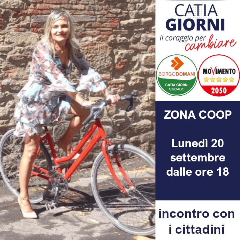 """Lunedì 20 settembre: inizia dalla zona Coop il tour in bici della coalizione """"Il coraggio per cambiare"""""""